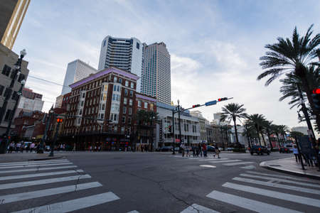 Canal Street in Downtown New Orleans, Louisiana