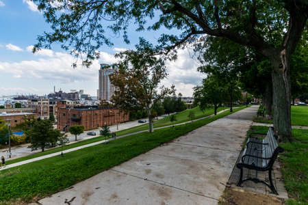 Federal Hill Park overlooking Batimore City, Maryland Editorial