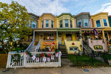 maryland: Holiday Lights and Decoration in Hampden, Baltimore Maryland