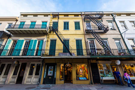 quarters: Royal Street in Downtown New Orleans, Louisiana French Quarters Editorial