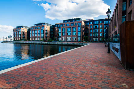 Union Wharf Waterfront in Fells Point in Batimore, Maryland