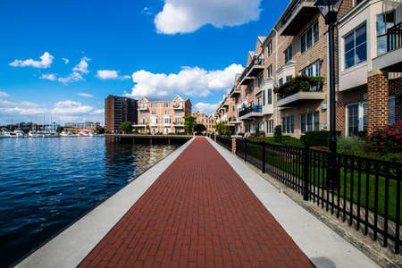 Waterfront in Canton in Batimore, Maryland
