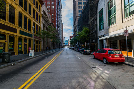 Warm Cloudy day in Downtown Pittsburgh, Pennsylvania
