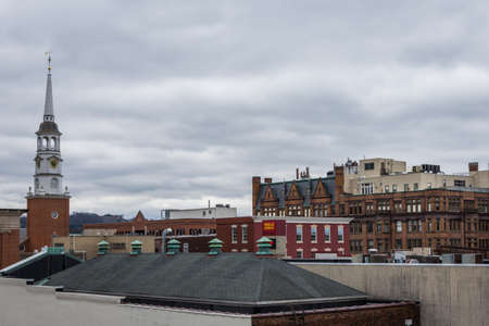 시내 역사적인 뉴욕, 봄에 펜실베니아의 공중