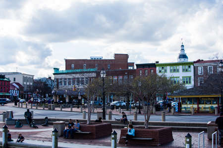Downtown Historic District of Annapolis, Maryland Editorial