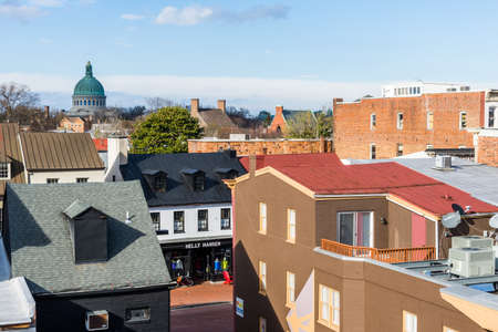 공중의 다운 타운 아나 폴리스, 메릴랜드의 역사 지구