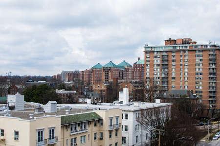 볼티모어, 메릴랜드에있는 찰리 마을에있는 세인트 폴 거리의 공중보기
