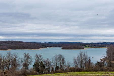 코펜스 주립 공원, 하노버, 봄에 펜실베니아에있는 호수 마르부르크