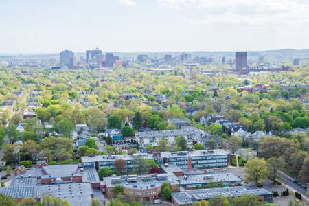Aerial Skyline of New Haven Connecticut from East Rock in Summer Reklamní fotografie - 85044353
