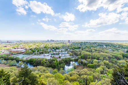 Aerial Skyline of New Haven Connecticut from East Rock in Summer Stock Photo - 85044354