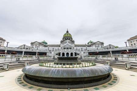 De bouw van het Capitool in Harrisburg van de Binnenstad, Pennsylvania Stockfoto
