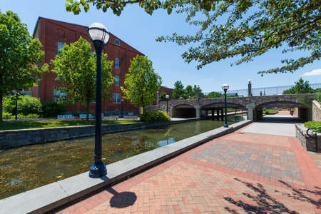 Scenic Area in Carrol Creek Promenade in Frederick, Maryland