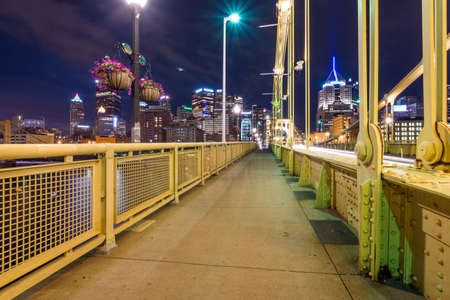 피츠버그, 펜실베니아 fron의 스카이 라인 Allegheny Allegheny 강 건너편 방문