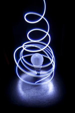 encircling: Lights encircling a bulb