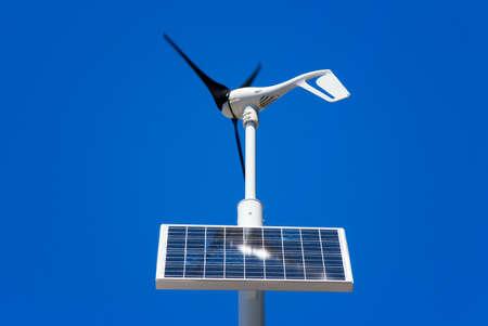 wind turbine and solar panel Stock Photo - 10682644