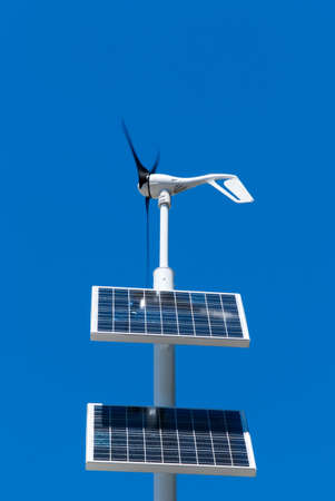 wind turbine and solar panel photo