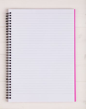 notebook page: Open notebook with a blank page