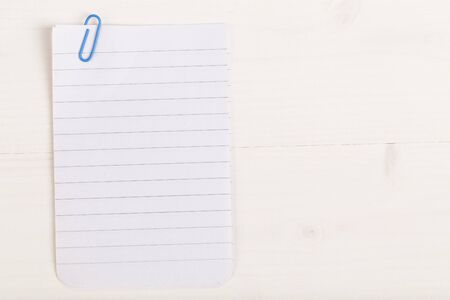 attached: Notebook papers attached with paper clip