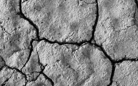 Bird's view on shattered soil and crumbled surface.