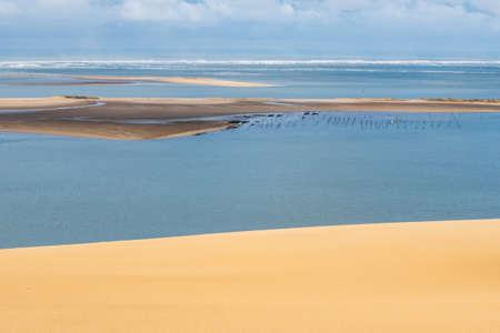 Dune du Pilat: Oyster bay seen from Europe's biggest sand dune