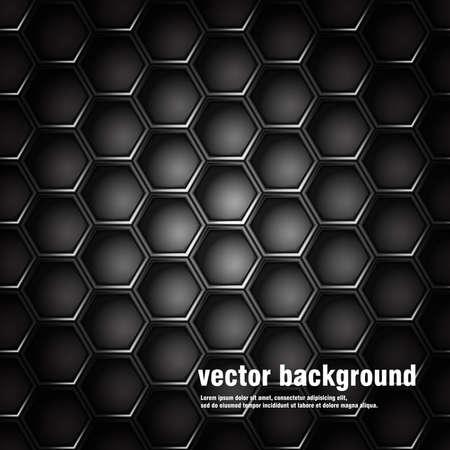 Geometric pattern of hexagons. Metal background.