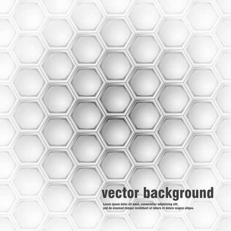 Helder geometrisch patroon van zeshoeken. Stock Illustratie