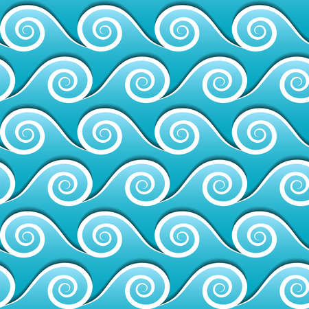 blue waves vector: Seamless pattern of blue waves. Vector background.