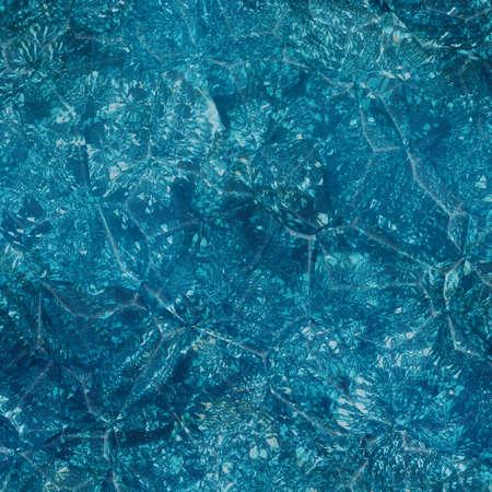 Kristal ijs textuur. Blauw kristal oppervlak.