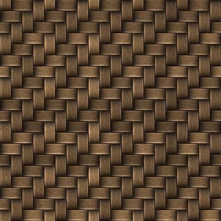Naadloze textuur van mand oppervlak. Patroon achtergrond. Stockfoto