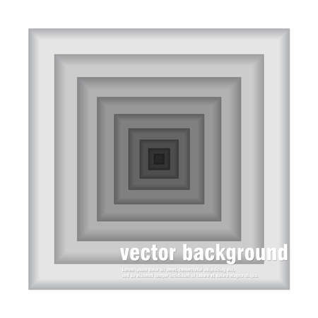 light backround: Black and white square background. Flat vector design.