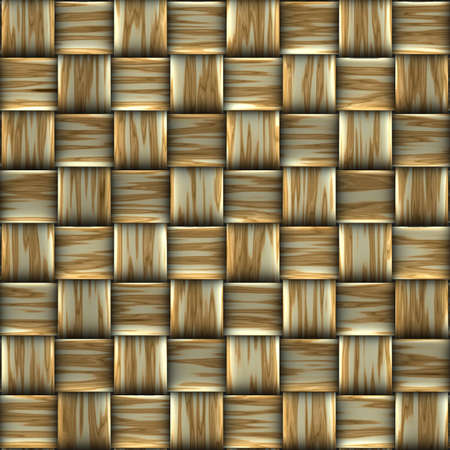 Seamless texture of wicker surface. Pattern background. Stock Photo