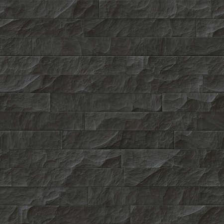 Textuur van een donkere stenen muur. Naadloze achtergrond.