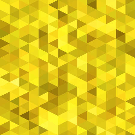 wallpapper: Abstract golden background of the triangles. Seamless vector wallpapper.