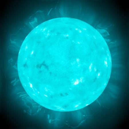 dwarf: Blue dwarf star. Big hot gas giant. Stock Photo