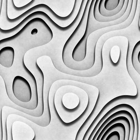 Seamless abstract layered white background.