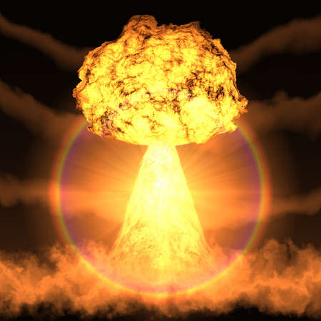 nuke: Powerful explosion of a nuclear bomb.