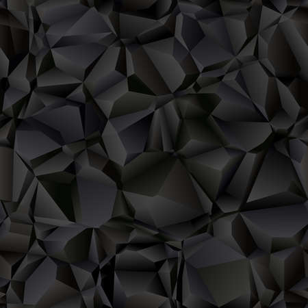 Dark seamless pattern. Abstract geometric vector background. 向量圖像