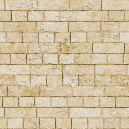 Naadloze gele stenen muur textuur.