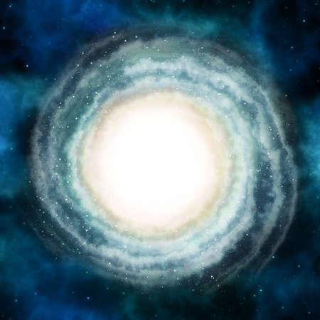 deep: Beautiful spiral galaxy in deep space. Stock Photo