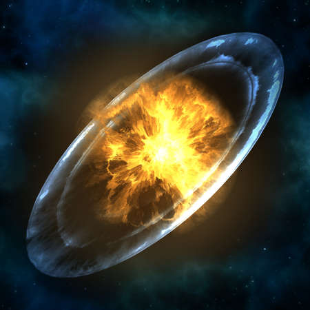 Supernova explosion. Stock Photo