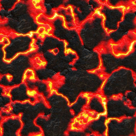 Seamless texture of lava. Wallpaper or background.