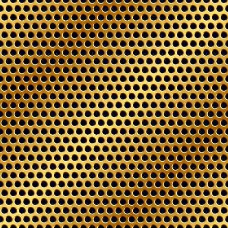 metal grid: Seamless golden metal grid.