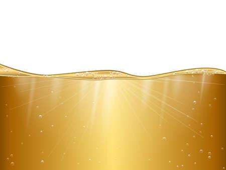 Flüssiges Gold Hintergrund.