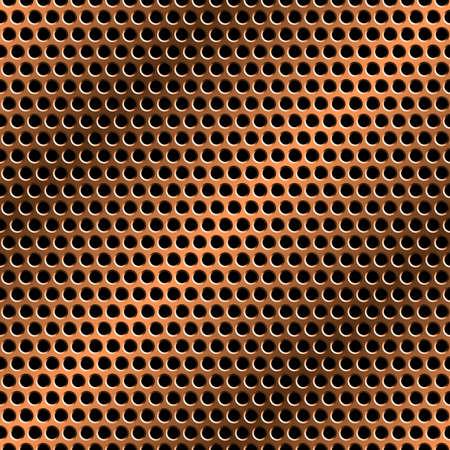 perforated: Seamless metal grid pattern.