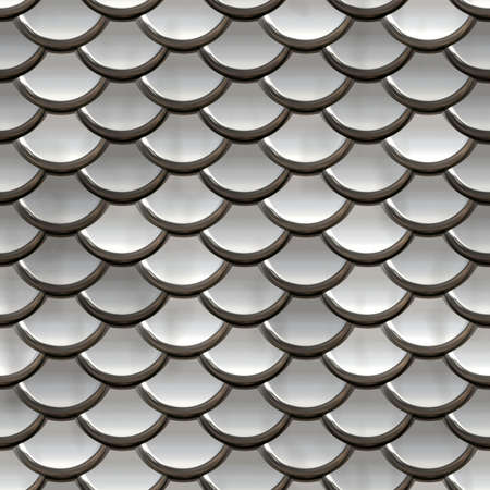 squama: Seamless squama of silver. Background texture. Metal background. Stock Photo