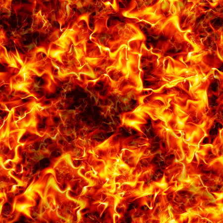 firestorm: Seamless texture of fire. Flame background. Seamless closeup firestorm background. Stock Photo