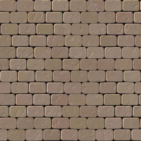 cobblestone: Beige brick wall. Seamless beige stone wall texture. Stock Photo