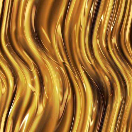 liquid gold: Liquid gold. Seamless gold wavy surface. Golden metal. Texture or background.