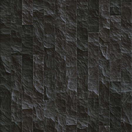 seamless tile: Texture of a dark stone wall. Seamless background. Stock Photo