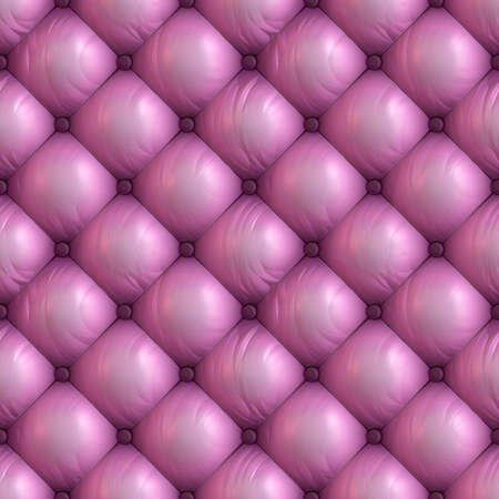 Seamless background of pink upholstery. Capitone.